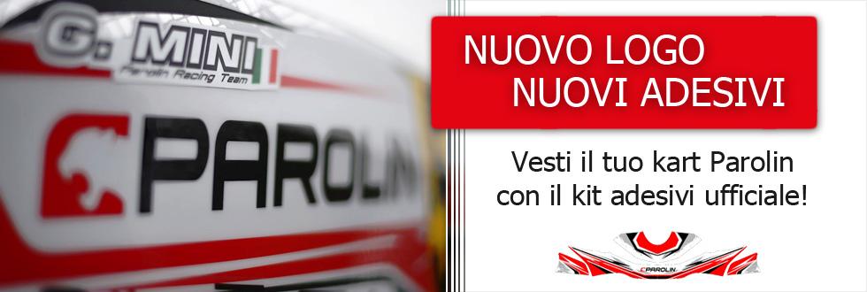 Vesti il tuo kart Parolin con il kit adesivi ufficiale