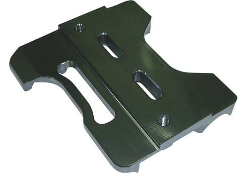 BASE PLATE FOR ENGINE MOUNT NO HOLES 32MM BLACK ANODIZED