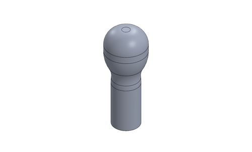 GEAR LEVER KNOB MOTORSPORT LONG - TITANIUM ANODIZED