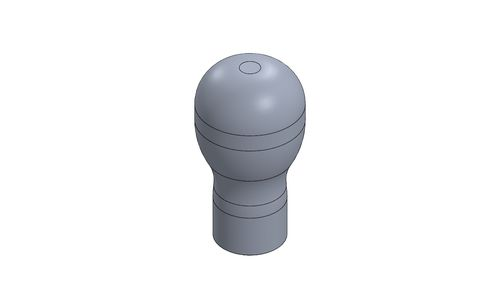 GEAR LEVER KNOB MOTORSPORT -SHORT- TITANIUM ANODIZED