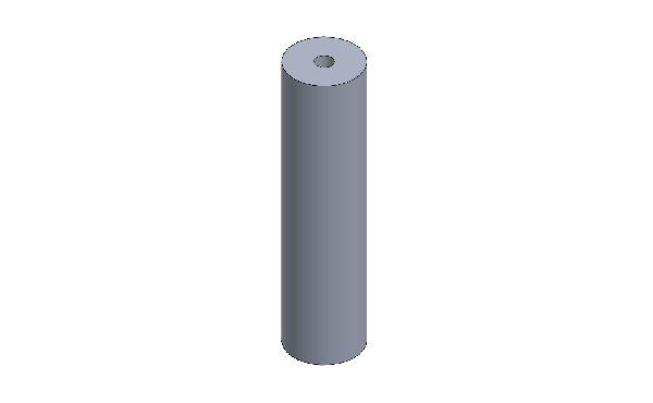 DISTANZIALE PARAURTI ANT. XT32 OPEN D.35 L=140 M10 RAL 9005