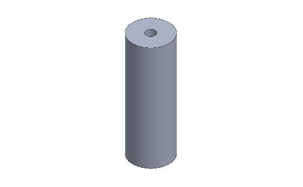 DISTANZIALE PARAURTI ANT. XT32 OPEN D.35 L=100 M10 RAL 9005