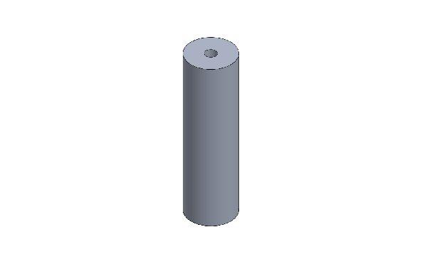 DISTANZIALE PARAURTI ANT. XT32 OPEN D.35 L=120 M10 RAL 9005