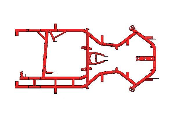 INVADER MOTORSPORT KZ FRAME - PAROLIN RED