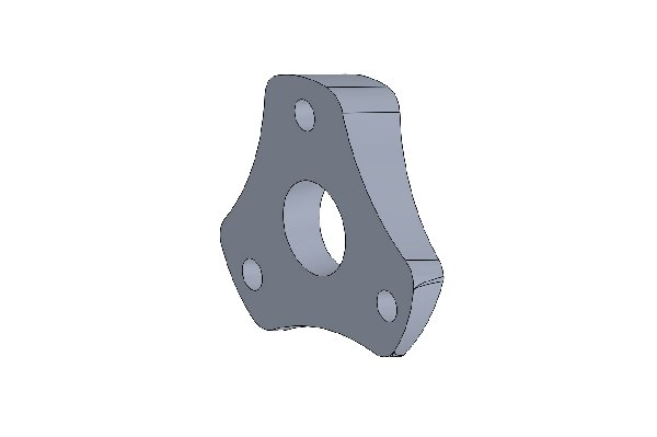 INCLINED SPACER STEERING HUB RAW