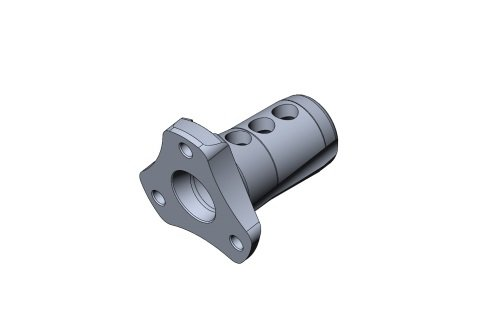 ADJUSTABLE STEERING HUB OK WITH INCLINATION - BLACK ANODIZED