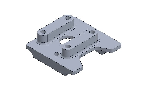 ENGINE MOUNT DRILLED FOR COMER - FOR MINIKART DIAM. 28MM