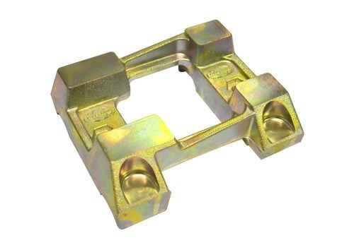 MAGNESIUM FLAT ENGINE MOUNT FOR 30MM TUBE - WITH HOLES