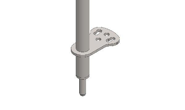 STEERING COLUMN 490MM WITH 1 BRACKET, M10 SCREW- FOR INDOOR
