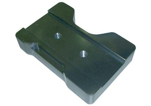 SLIDE FOR ENGINE MOUNT FLAT NO HOLES - TITANIUM ANODIZED
