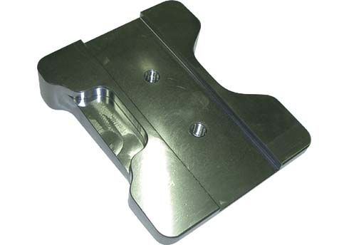 SLIDE FOR ENGINE MOUNT NO HOLES - BLACK ANODIZED