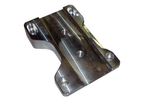 SLIDE FOR ENGINE MOUNT XTR/IAME - TITANIUM ANODIZED