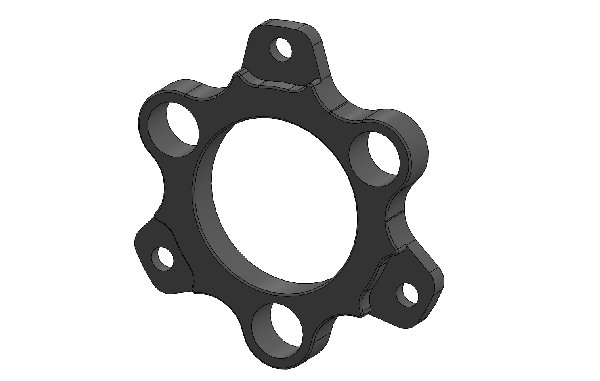 FLOATING ADAPTER FOR 150X13 BRAKE DISC BLACK ANODIZED