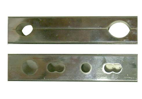 CHROMED BRACKET 115MM FOR BABY/MINI KART FRONT SPOILER