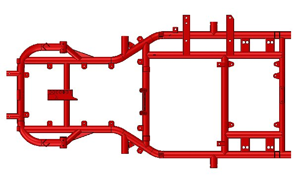 FRAME FOR RENTAL CHASSIS XT40 PAINTED RED