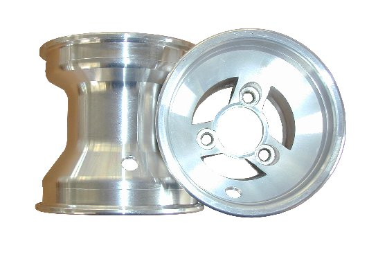 FRONT NAKED WHEEL 130MM SILVER ALUMINIUM FOR KZ