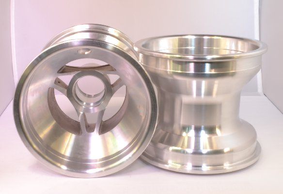FRONT NAKED WHEEL 115MM SILVER ALUMINIUM FOR MINI E BABYKART