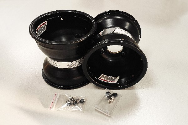 WHEELS SET 2 PZ 130MM MAGNESIUM MINI USA OXITECH BLACK WITH NUTS