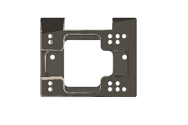 ECO BASE PLATE FOR ENGINE MOUNT 28MM WITH HOLE