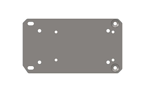 BASE PLATE FOR ENGINE XT40 HONDA GX200 Z.B.