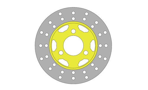 BRAKE DISC 155X3,5MM FOR BABY/MINI 53/TB/09 - 54/TM/09