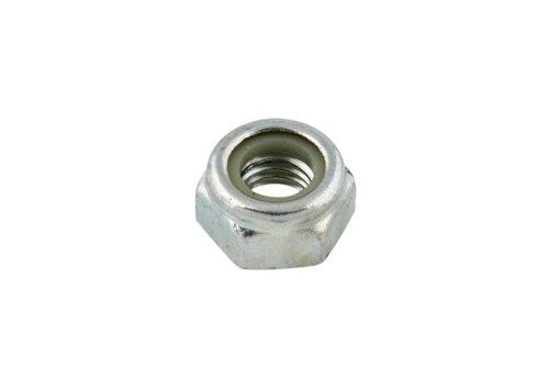 NUT M8 HIGH SELF-LOCKING - WHITE GALVANIZED