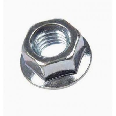 NUT M10 WITH FLANGE - WHITE GALVANIZED