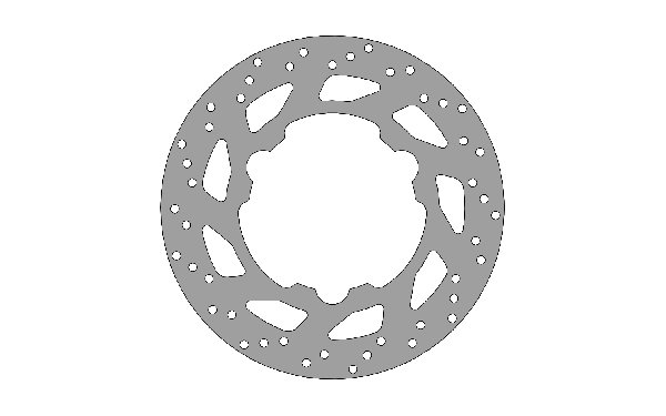 BRAKE DISC 140X3MM - ATTACHMENT WITH PINS INTERAX 65MM