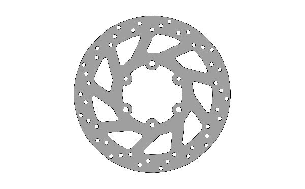 BRAKE DISC 140X3MM - ATTACHMENT FIXED