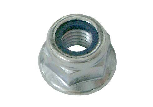 NUT ATB M6 LOW WITH FLANGE - WHITE GALVANIZED