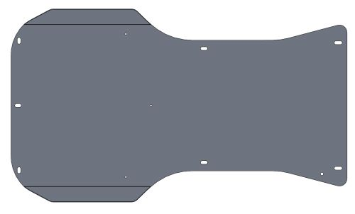 FLOOR TRAY FOR LE MANS/INVADER/MONZA BLACK P040 PAINTED - EMBOSSED