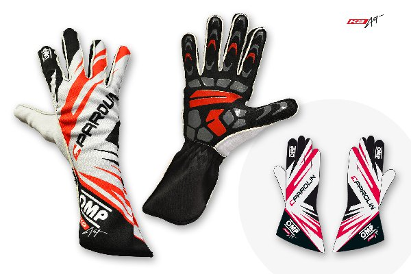 DRIVER GLOVES OMP KS1 PAROLIN MOTORSPORT