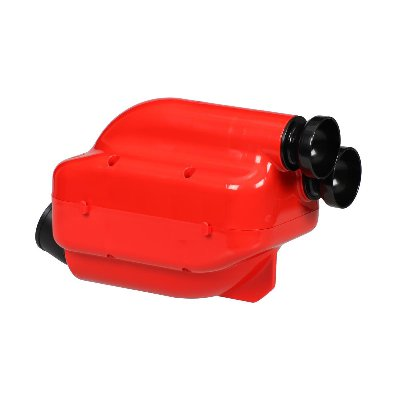 NOX 30MM INLET SILENCER - RED/BLACK