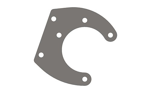 BRAKE CALIPER SUPPORT INDOOR HEART FLANGE BRAKE DISC 195MM Z.B.