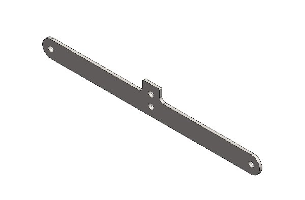 LOWER CROSS BRACKET FOR EUROSTAR DYNAMICA FRONT PANEL - CHROMED