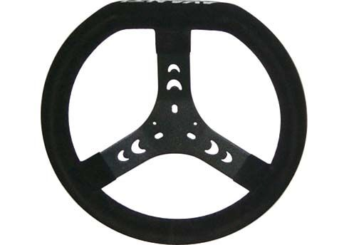 STEERING WHEEL DIESIS BLACK CHAMOIS (340MM)