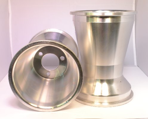 REAR WHEEL 180MM SILVER ALUMINIUM NAKED FOR INDOOR