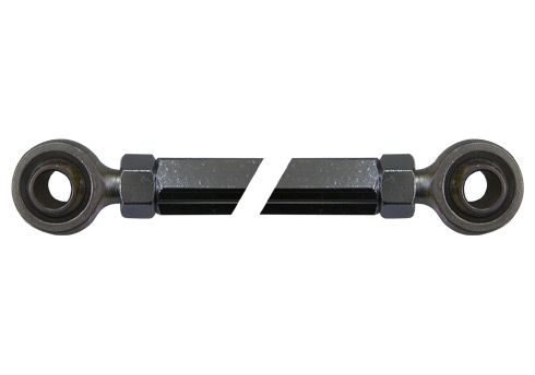 TRACK ROD HEXAGONAL 225MM (BLACK) WITH UNIBALL AND NUTS
