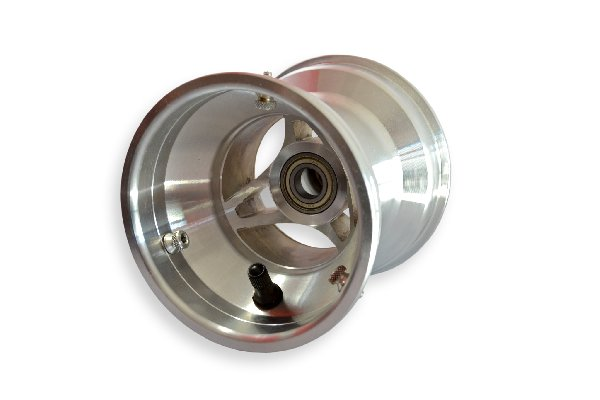 FRONT WHEEL 130MM SILVER ALUMINIUM FOR OK COMPLETE