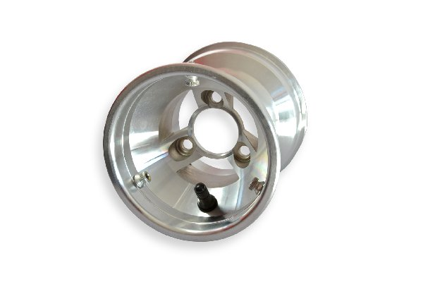 FRONT WHEEL 130MM SILVER ALUMINIUM FOR KZ COMPLETE