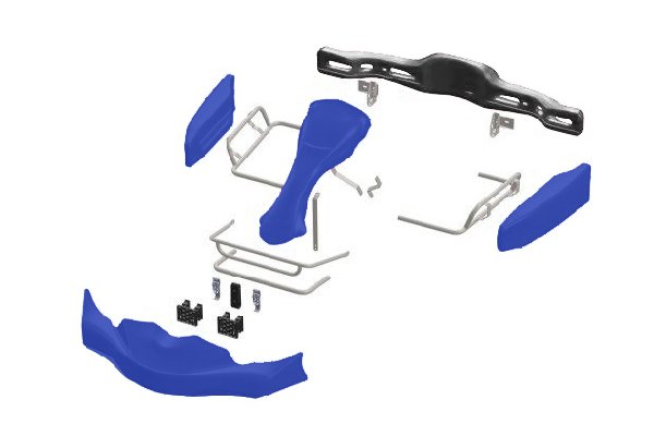 BODYWORKS SET EUROSTAR AGILE CIK 2020+ FRONT ATTACHMENT - BLUE