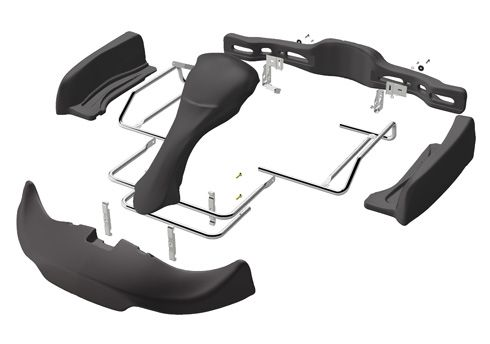BODYWORK SET EUROSTAR WINGS CIK/2014 COMPLETE WITH BRACKETS- BLACK