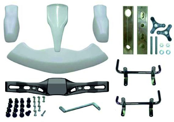 BODYWORKS SET BABY/MINIKART CSAI 2005/09 WITH BRACKETS -  WHITE