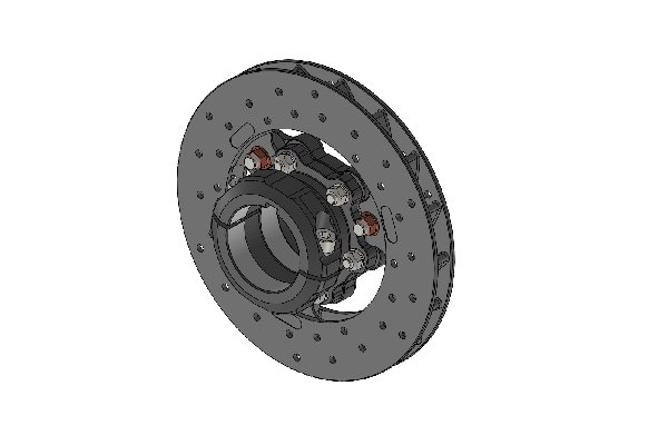 REAR BRAKE DISC 180X17,5 COMPLETE WITH 40MM FLOATING DISC CARRIER