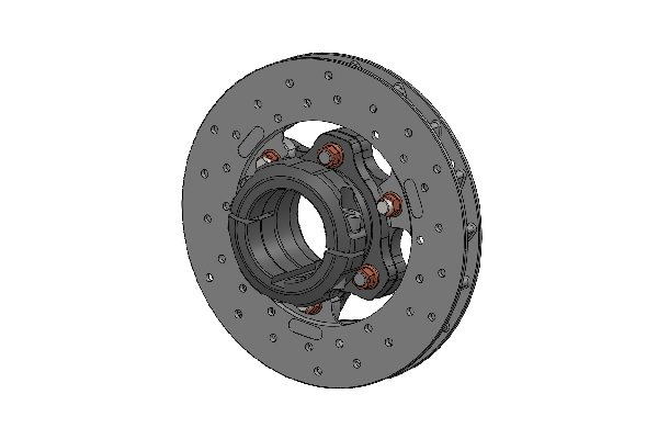 REAR BRAKE DISC 180X17,5 COMPLETE WITH 50MM FLOATING DISC CARRIER