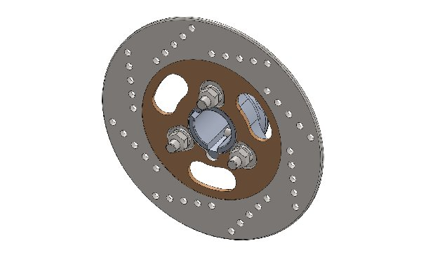 BRAKE DISC 180MM FOR MINI RENTAL WITH 30MM DISC CARRIER