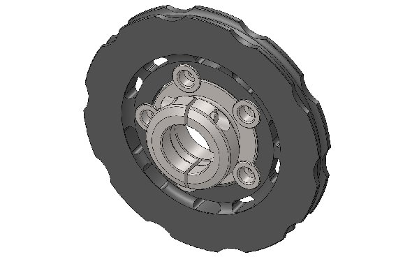 COMPLETE SELF-VENTILATED BRAKE DISC 195X18MM FLOATING WITH 40MM DISC CARRIER