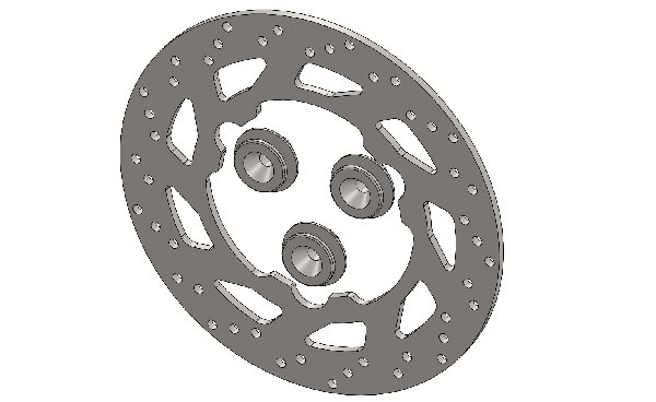 BRAKE DISC 140X3MM WHEELBASE 65MM COMPLETE WITH PINS