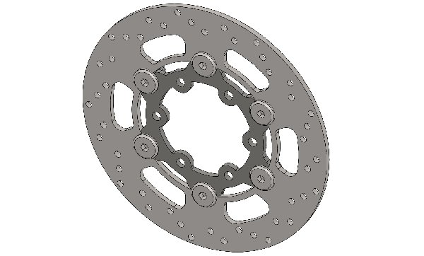 BRAKE DISC 140X3MM WHEELBASE 77MM COMPLETE WITH PINS