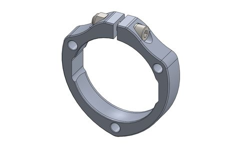 BEARING FLANGE 40MM AND 50MM WITH BOLT - RAW